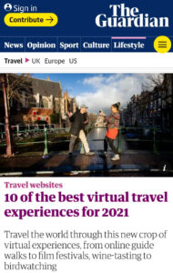 The Guardian - top 10 best travel experiences for 2021